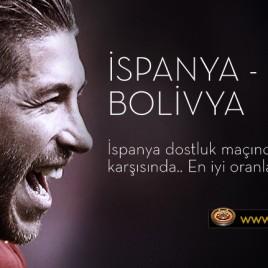 İspanya - Bolivya için En iyi Oranlar